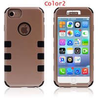 Wholesale Iphone5 Silicone Back Case Pc - Phone Cases For Iphone5 5s 5c 6 6plus 7 7plus six point robot PC+Silicone Back Cover case