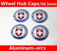 4 pz = 1 set / 56.5mm KIA TOYOTA HRE distintivo Decal wheel center hub caps adesivi emblema Car styling Spedizione gratuita