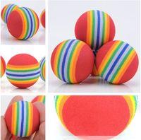 ingrosso gatti palla-Diametro 35mm interessante Pet Toy dog and cat Toys Super cute Rainbow Ball toy Peluche cartoon IA602
