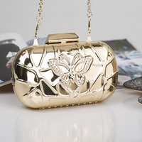 Wholesale Multicolor Evening Bags - Wholesale- GUDANSEN Evening Bag Women Metal Clutch Bags Fashion Multicolor Wild Style Wedding Shoulder Bag High Quality Day Clutches Gold