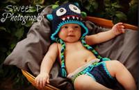 Wholesale Toddler Boy Crochet Pattern - Monster Crochet Pattern Hat Baby Boys Girls Winter Christmas Dino Cap Newborn Infant Toddler Kids Children Animal Beanie Cotton Photo Props