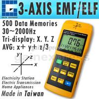 Wholesale Digital Gauss Meter - T92 Tri-Axis Sensor Digital 2000mG Gaussmeter EMF ELF Electro Magnetic Field Gauss Meter Taiwan Made
