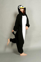 Wholesale Cheap Onesie Dress - New Lovely Cheap Black Penguin Kigurumi Pajamas Anime Pyjamas Cosplay Costume Unisex Adult Onesie Dress Sleepwear Halloween S M L XL