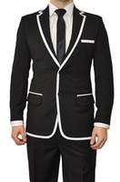 jaquetas feitas sob encomenda do smoking venda por atacado-Atacado-Custom made homens ternos personalizados terno do casamento dos homens Purple Groom Smoking Mens Suit groomsmen Suit Jacket + Pants + Tie