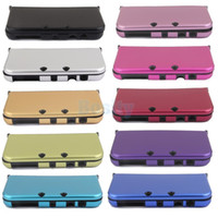 Wholesale nintendo 3ds case cover - 10pieces Aluminium Metal Protective Skin Case Cover Shell for NEW Nintendo 3DS XL Console