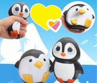 Wholesale Wholesale Cute Dolls - New Arrival Jumbo Squishy Cute Penguin Kawaii Animal Slow Rising Sweet Scented Vent Charms Bread Cake Kid Toy Doll Gift Fun