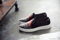 Wholesale Gauze Shoe Men - Men's casual shoes gauze cloth shoes trendy pedal printing shoes
