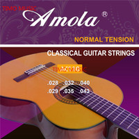 Wholesale Nylon Strings Guitars - Amola AC110 115 Classical Guitar Strings Set 6-string Classic Guitar Clear Nylon Strings Silver Plated Copper Alloy Wound