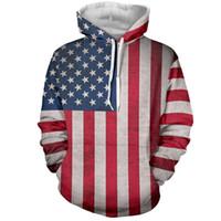 Wholesale American Flag Clothing Men - Wholesale-Top quality cotton Mens Hoodie Sweatshirt American Flag Printing Suit Men Hoody Tracksuit Male Clothing Hip Hop Casual Hoodies