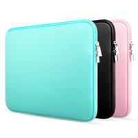 macbook için kapak kasası toptan satış-Laptop çantası renkli bilgisayar Kol Neopren Yumuşak Kılıf Kapak Notebook Çantası 12