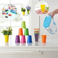 Wholesale Travel Plastic Cup Set - 7pcs set Originality travel portable Rainbow Cup Picnic Plastic Cup Household Coffee Cups Water Cup IA612