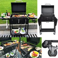 Wholesale Home Garden Adjustable Stainless Steel Rotary Charcoal Grilling Outdoor Barbecue Home Appliance BBQ Grills