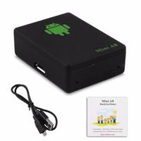 araba alarmı için gps gsm toptan satış-Mini GPS Tracker Küresel Gerçek Zamanlı A8 GSM GPRS GPS Takip Cihazı Smartphone IÇIN çocuklar IÇIN çocuk araba araba Anti-Kayıp Alarm
