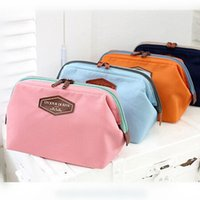 Wholesale Vintage Cosmetic Cases - Wholesale- 2017 NEW Vintage Make Up Cosmetic Bags Women Travel Bag Organizer Bag Women Cosmetic Makeup Cotton Cases Lady 4 Colors