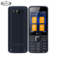 dual sim quad core 5.7 al por mayor-Teléfono celular Quad Sim Quad Band teléfono móvil Desbloqueado 2.8 pulgadas 4 tarjetas SIM 4 en espera Bluetooth Linterna MP3 MP4 GPRS teclado