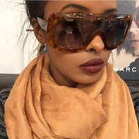 lunettes de soleil achat en gros de-2017 Nouvelles lunettes de soleil Oversize femmes lunettes de soleil Grand cadre réfléchissant lunettes de soleil Vent Hommes Lunettes De Soleil Rétro carrés sunglsses YW005