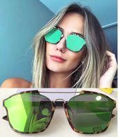 Wholesale Sunglasses Spot - Women Spotted Havana Green Sunglasses Fashion Brand Abstract Sunglasses New with original case