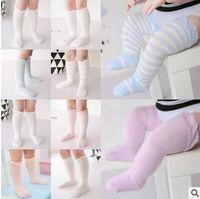 Wholesale Thin Knee High Socks - Knee High Baby Socks Korea Girls Sock Summer Super Thin Infant Toddler Boy Girl Cotton Sock Knitted Cheap Socks 0-1Y