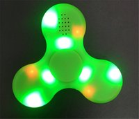 Wholesale Rainbow Speakers - LED Fidget Spinner with Bluetooth Speaker Handspinner fingertips LED Rainbow LightDecompression Toy For Kids Adults With Micro Charging Port
