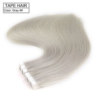 Wholesale Extension Glue Skin - Neitsi 20inch 20pcs lot 40g Grey-4# Glue Skin Weft Hair Tape in Hair Staight 100% Human Hair Tape in Extensions