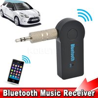 Universal 3.5mm Streaming Car A2DP Wireless Bluetooth Car Kit AUX Áudio Music Receiver Adapter Handsfree com microfone para telefone MP3 Retail Box
