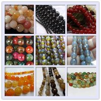 Wholesale jewellery making accessories - 10mm Natural gem Faceted Agate Stone Loose Beads Round Ball Bead diy Beaded Charm Jewellery Accessories Beads For Jewelry Making