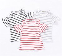 Wholesale Cute Wholesale Girls Tshirts - 2017 Girls Baby Childrens T-shirts Summer Short Sleeve tshirts Toddler Kids Tshirts Cute Tees Cotton Bottoming Shirt Boutique Clothes
