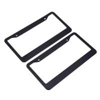 quadros de placas de matrícula venda por atacado-XC-TP 091 EUA Quadro Da Placa de Licença de Liga de Alumínio Durável para o Caminhão Do Carro RV Mini-van etc Evitar Número da Placa de Perder