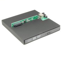Wholesale Enclosure Dvd - Wholesale- External CD DVD Optical Drive Enclosure Case 12.7mm IDE PATA to USB Caddy Adapter Enclosure