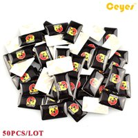 Wholesale Abarth Badge - Car Personalized Sticker Abarth Logo Badge Car Plastic Drop Sticker for Fiat 500 Abarth Car Styling 50PCS LOT