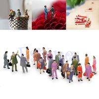 Wholesale Ho Scale Model Figures - Chic 100x 1:100 Building Layout Model People Train HO Scale Painted Figure Passenger