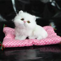 Wholesale Sleeping Cat Cute Plush - Wholesale- Cute Simulation Animal Doll Plush Sleeping Cats Toy Talking Sound Kids Toy Birthday Gift Doll Decoration stuffed toys L2039