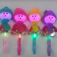 Wholesale new unique toys online - New Unique Light Flash Toys for Children Luminous Cartoon Snowman Creative Light up Toys Stick Christmas Gifts Decoration Q0185