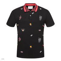 t-shirt venda por atacado-New Hot Luxo Itália Camisa T-shirt High Street Bordado T camisas Para Os Homens Serpente Abelha Tigre Marca camisa Camisa Homens