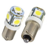 2x weißes Licht super helles 12V T11 BA9S 5050 SMD 5-LED Auto-Glühlampe-Lampe M00104