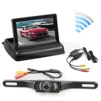 otomobiller için kablosuz park kameraları toptan satış-Kablosuz 4.3 inç Araba Reversing Kamera Seti Back Up Araba Monitör LCD Ekran HD Araba Dikiz Kamera Park Sistemi