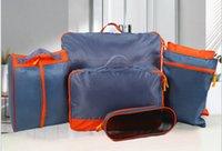 Wholesale Thin Makeup Bag - Light Thin Travel Storage Bag Cloth Finishing Bag Makeup Storge Bags Multi Size 7 pieces set