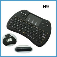 Wholesale Mini Mause - 2.4G Mini H9 USB Wireless Keyboard Touchpad Wireless Air Mouse Mause Fly Mouse Remote Control for Android Windows TV Box Phone