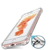 kaplama telefon çini toptan satış-Şeffaf şeffaf TPU Darbeye Arka Kapak İnce Akıllı Telefon Kılıfı Toplu Çin'den Iphone 7 Için Satın Alın
