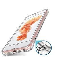 iphone telefone china großhandel-Transparenter klarer TPU-stoßfester hinterer Abdeckungs-dünner intelligenter Telefon-Kasten-Massenkauf von China für Iphone 7 plus