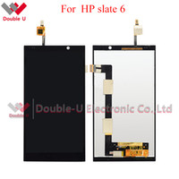 Wholesale Lcd Screen For Hp - 2pcs lot For HP Slate 6 VoiceTab full lcd display+touch screen panel Glass sensor Digitizer Assembly Replacement with Free Shipping