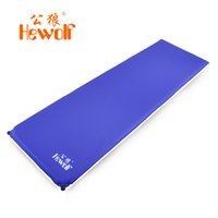 Wholesale Thick Sleeping Pad - Wholesale- outdoor moisture pad tent camping mat sleeping pad mats automatic inflatable mattress thick 5CM widening Camping mats HEWOLF