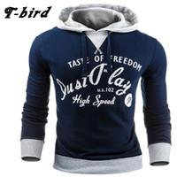 Wholesale Bird Belt - Wholesale- T-Bird 2017 New Fashion Hoodies Brand Men Letter Printing Sweatshirt Male Hoody Hip Hop Autumn Winter Hoodie Mens Pullover M XXL