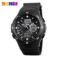 Wholesale Sport Watch Unisex Compass - Men's Digital LED Role Dual Display Wristwatches Men Stop Watch Alarm Water Resistance Compass Calendar 1198