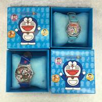 Wholesale Doraemon Girls Watches - Wholesale Cartoon Doraemon kids boys girls children cartoon quartz Children Wristwatch Watches With Boxes Party Favors Gift W4