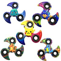 Wholesale Top Toy Figures - Plastic Cute Cartoon Spinner Toys Various Cartoons Figures Funny Premium Finger Spinner Hand Spinning Top Toy