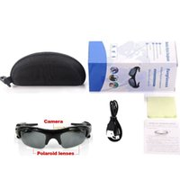 Wholesale Mp3 8gb Sunglasses - Smart Sunglasses Camera Video Recorder MP3 player Glasses Hidden Spy DV DVR Recorder Camcorder Sport Eyewear WIth 8GB Free Shipping
