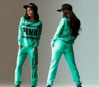 Женщины Love Sweatsuit 2 Two Piece Set Female Letter Pink Tracksuit Leopard Print Hoodies Top + Pants Ladies Outfit Спортивный костюм