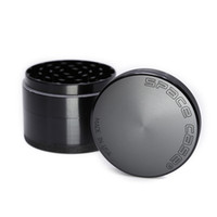 Wholesale Aluminum Cigarette - 63mm Large Grinder Aluminum space case Grinder tobacco smoke cigarette detector grinding smoke Tobacco grinder VS sharpstonee Fit Dry Herb