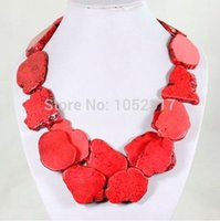 Stone orange turquoise jewelry - Fashionable Multilayer Chunky Slice Necklace RED YELLOW TURQUOISE PURPLE WHITE ORANGE Colors Choker Necklace Exaggerated Jewelry